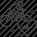 biking, cardio, exercise, health, healthcare, medical, wellness icon