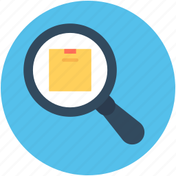 find delivery, magnifier, parcel tracking, search box, shipping icon