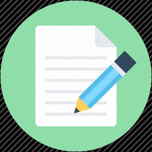 edit, file, task, text sheet, write icon