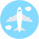 aeroplane, airliner, airplane, flight, plane icon