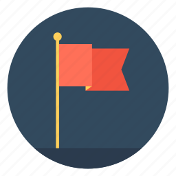 banner, flag, location flag, point flag, waving flag icon