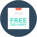 delivery box, free delivery, free shipping, package, shipment