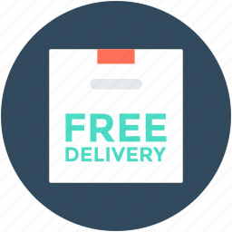 delivery box, free delivery, free shipping, package, shipment icon