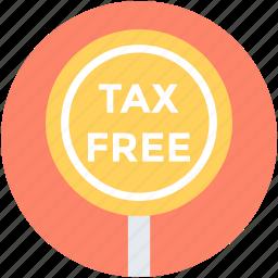 duty free, no tax, sales tax, tax free, taxation icon