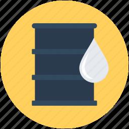 barrel, crude, oil barrel, oil cask, oil container icon