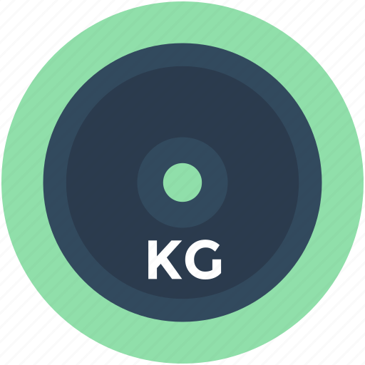 kg, kilogram, weight, weight plate, weight tool icon
