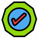 logistic, ok, success, tick icon