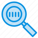 code, magnifier, magnifying, search icon
