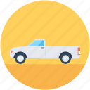 delivery car, delivery van, hatchback, pickup van, van icon