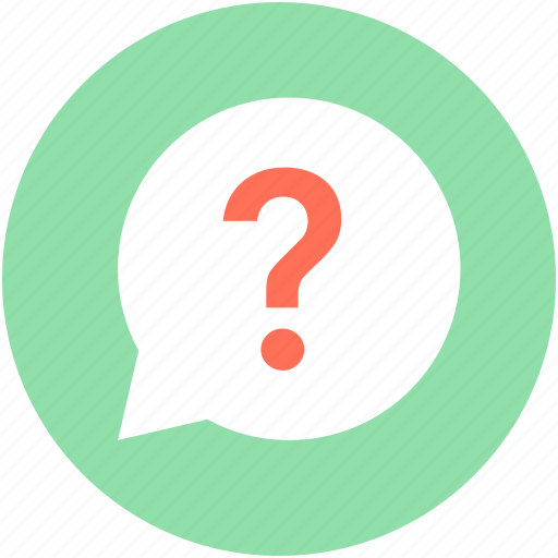 faq, question bubble, question mark, questionnaire, speech bubble icon