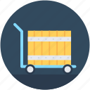 hand trolley, hand truck, luggage trolley, parcel, platform truck icon