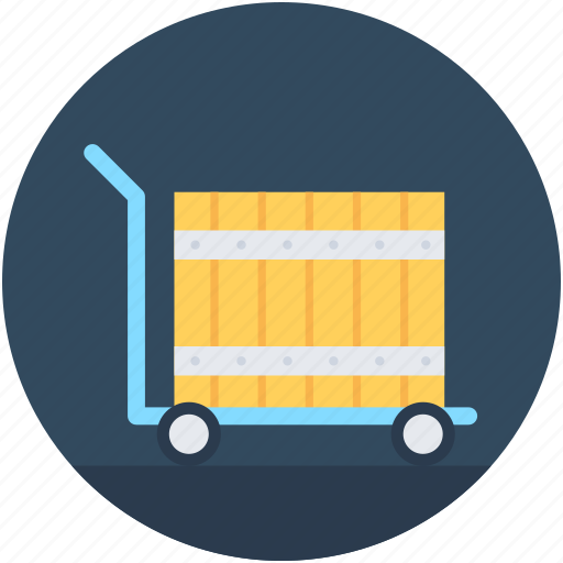 Hand trolley, hand truck, luggage trolley, parcel, platform truck icon - Download on Iconfinder