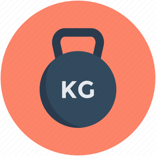kettlebell ball, kg, kilogram, weight, weight tool icon