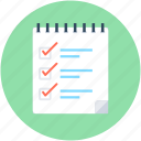 checklist, list, memo, tasks, to do's icon
