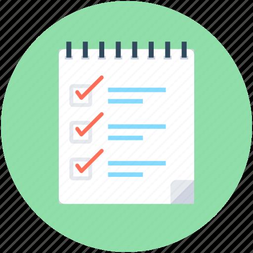 checklist, list, memo, tasks, to do's icon