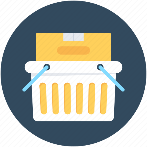 box, courier, parcel, shipping, shopping basket icon
