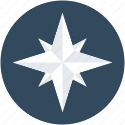 cardinal points, compass, compass rose, rose of winds, wind rose icon