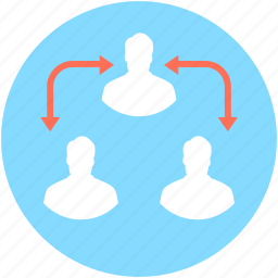 collaboration, group, people network, team, user communication icon