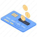 bank card, consumer card, credit card, debit card, dollar with card, payment card icon