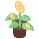 business expansion, dollar plant, financial growth, income growth, money growth icon