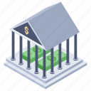 bank, building, depository institute, financial institution, investment bank icon
