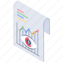 business report, report analysis, report monitoring, review report, statical report icon
