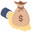 guard money, investment, money sack, preserve money, save money icon