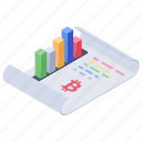 bar graph analytics, financial report, growth analysis, infographic report, project analysis, sales report icon