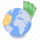 foreign exchange, global finance, global money, international currency, international money icon