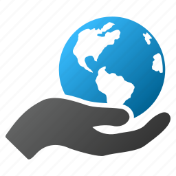 care, earth, global, globe, hand, internet, world icon
