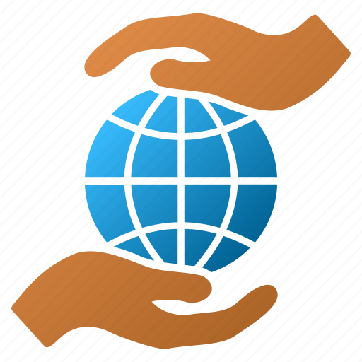 care hands, earth, global insurance, globe, internet, network, world icon