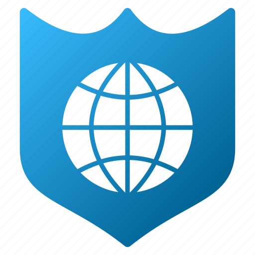 earth, global shield, network antivirus, protection, safety, security, world icon