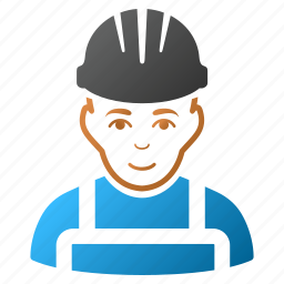 engineer, glad worker, happy mechanic, man, person, service, work icon