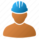 builder, employee, job, mechanic, user, work, worker person icon
