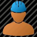 builder, employee, job, mechanic, user, work, worker person icon