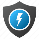charge, electric, electrical, electricity, guard, power protection, safety icon