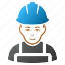 engineer, glad worker, job, man, person, service, work icon