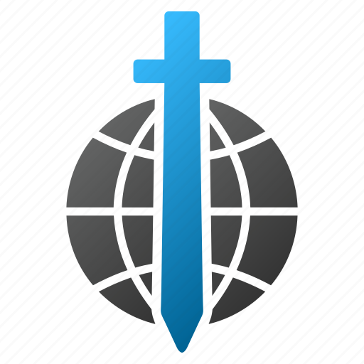 earth, global guard, military, safety, security, sword, world icon