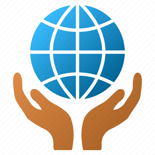 care, global safety, globe, hands, internet, network, world icon