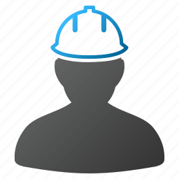 construction, engineer, hardhat, helmet, person, safety, user icon