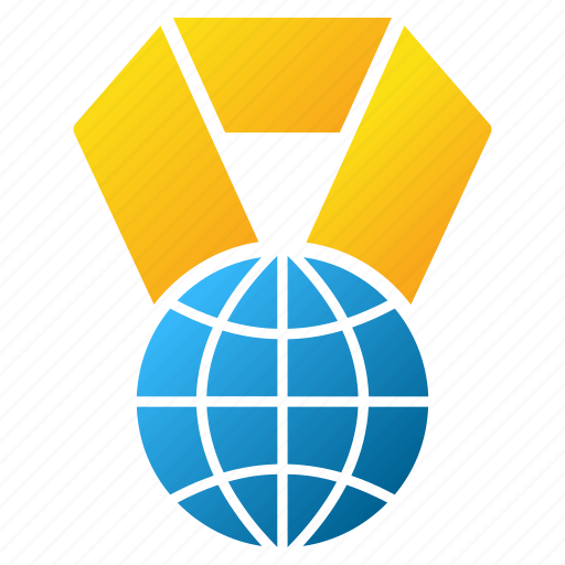 earth, globe, internet, medal, planet, trophy, world award icon
