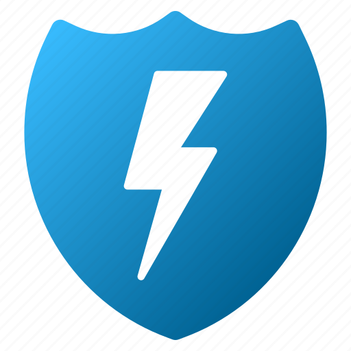 electric, electricity, energy, power, protection, safety, shield icon