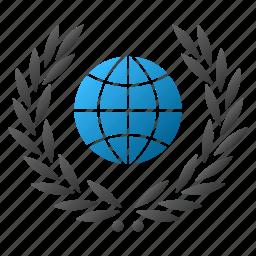 certificate, emblem, global, globe, guarantee, international, quality icon