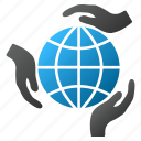 earth, global protection, globe, internet, network, security, world icon