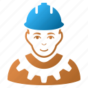 engineer, industrial builder, mechanic, person, service, work, worker icon
