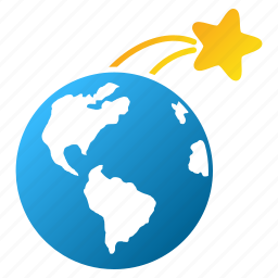 earth, global, globe, rising satellite, space, star flight, world icon
