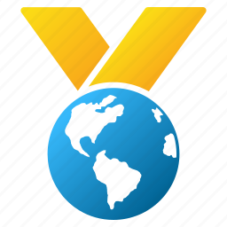 award, earth, global, globe, international, planet, world medal icon