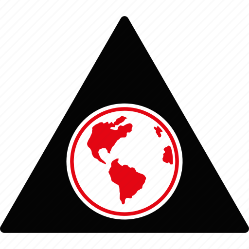danger, earth, globe, planet, safety, terra prime, warning icon