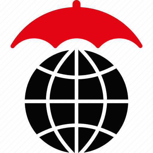globe, insurance, protect, protection, safety, umbrella, weather icon
