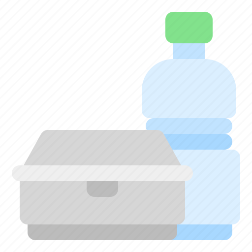 bottle, box, foam, plastic, warming icon